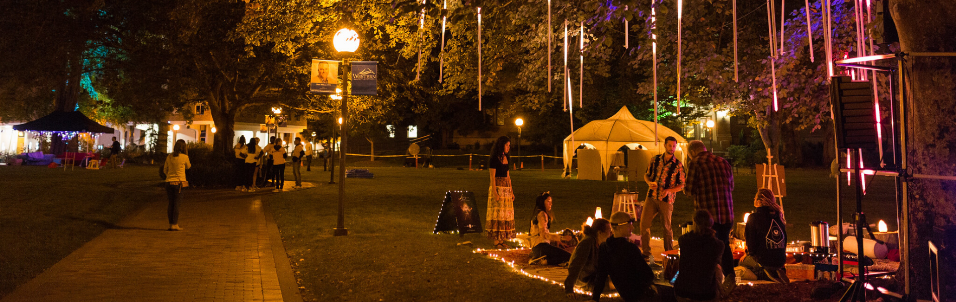 photo of a night market on the WWU Campus