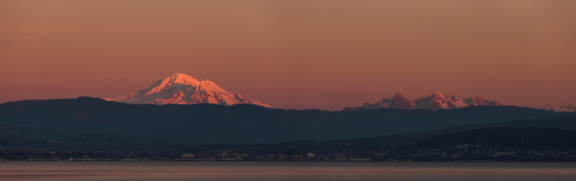 Mount Baker at Sunset